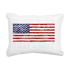 Distressed US Flag Becau Rectangular Canvas Pillow