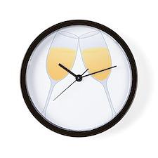 champagne glasses Wall Clock