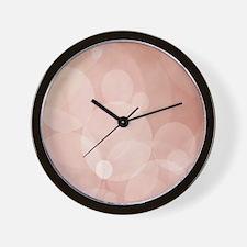 Peachy Bliss Wall Clock