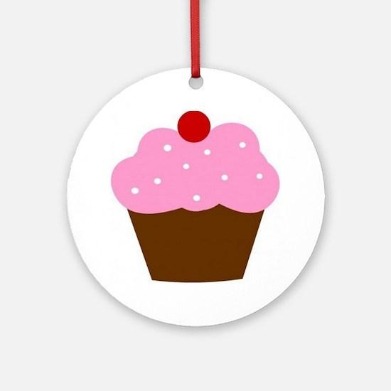 Cupcake Round Ornament