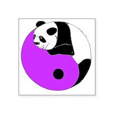"Lavender Panda Square Sticker 3"" x 3"""