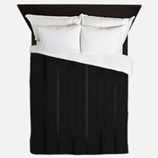 Elegant Black Stripes Queen Duvet
