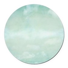 Pale Blue Sky Round Car Magnet