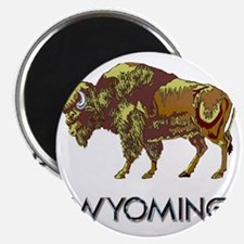 Wyoming state crest e8 Magnet