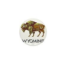 Wyoming state crest e8 Mini Button