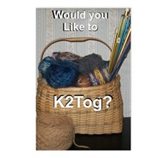 Would You Like To K2tog? Postcards (Package of 8)