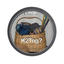 Would You Like To K2tog? Wall Clock