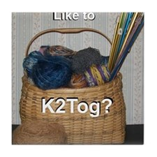Would You Like To K2tog? Tile Coaster