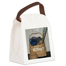 Would You Like To K2tog? Canvas Lunch Bag