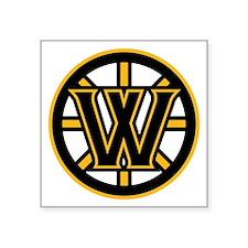 """Wormtown_Bruins_Logo Square Sticker 3"""" x 3"""""""