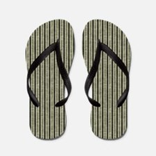 Sage Stripes Flip Flops