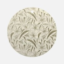 Natural Leaves Round Ornament