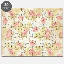 Pretty Pink Flowers Puzzle