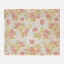 Pretty Pink Flowers Throw Blanket