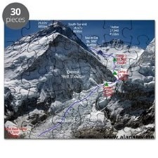Mt. Everest Southeast Ridge Route Map Puzzle