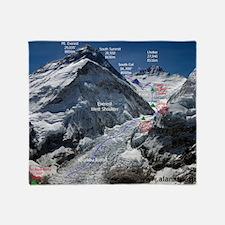 Mt. Everest Southeast Ridge Route Ma Throw Blanket