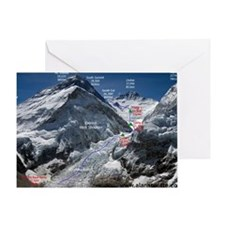 Mt. Everest Southeast Ridge Route Ma Greeting Card