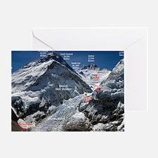Mt. Everest Southeast Ridge Route Ma Greeting Card