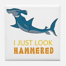 I just Look Hammered Tile Coaster