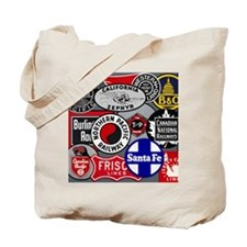 Train logos Tote Bag