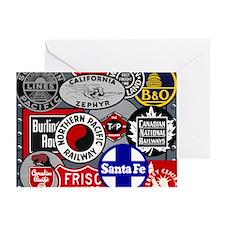 Train logos Greeting Card