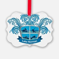 Lake Norman Splash Logo - LKN Ornament
