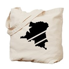 DR Congo Flag Knockout Tote Bag