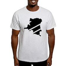DR Congo Flag Knockout T-Shirt