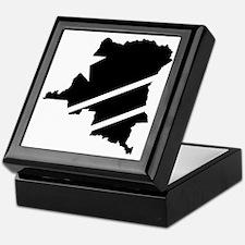DR Congo Flag Knockout Keepsake Box