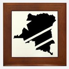 DR Congo Flag Knockout Framed Tile