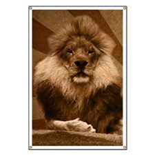 lion curtains Banner