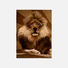 lion curtains 5'x7'Area Rug
