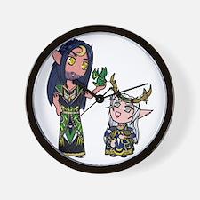 Blackbird and Ileyna Wall Clock