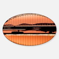 Calatrava's bridge in Merida Sticker (Oval)