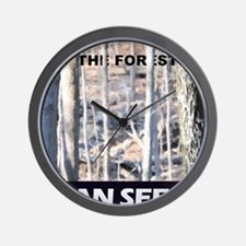 forest through the trees Wall Clock