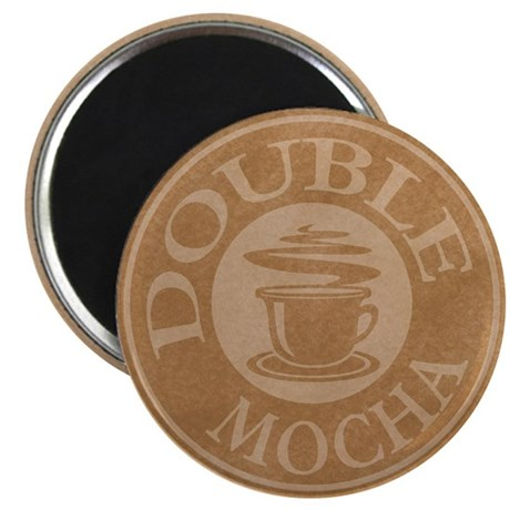 Double Mocha Coffee Logo Magnet