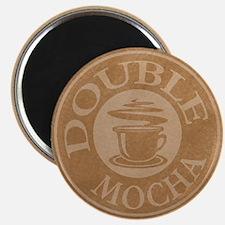 Double Mocha Coffee Logo Magnet
