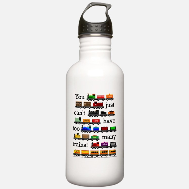 Too Many Trains Water Bottle