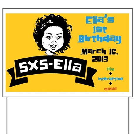 Ella car sign Yard Sign