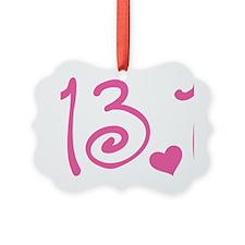 13.1 Curly Half Marathon Ornament