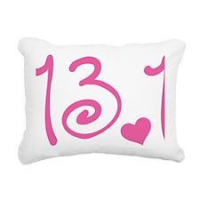 13.1 Curly Half Marathon Rectangular Canvas Pillow