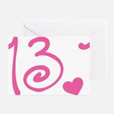 13.1 Curly Half Marathon Greeting Card