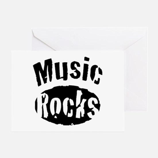 Music Rocks Greeting Card