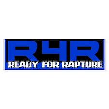 Ready For Rapture Blue Bumper Bumper Sticker
