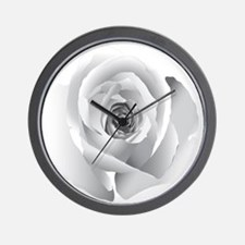 White Rose Wall Clock