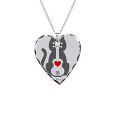 Cat Uke Necklace Heart Charm