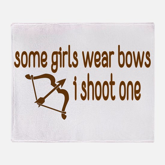 I Shoot Bows Throw Blanket