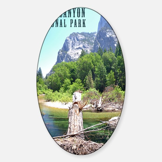 Kings Canyon National Park Tall Sticker (Oval)
