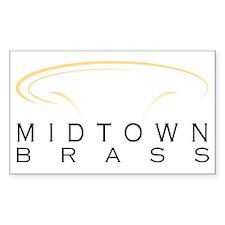 Midtown Brass Logo White Decal