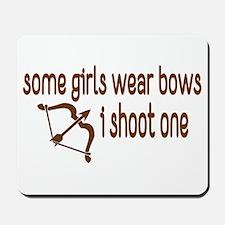 I Shoot Bows Mousepad